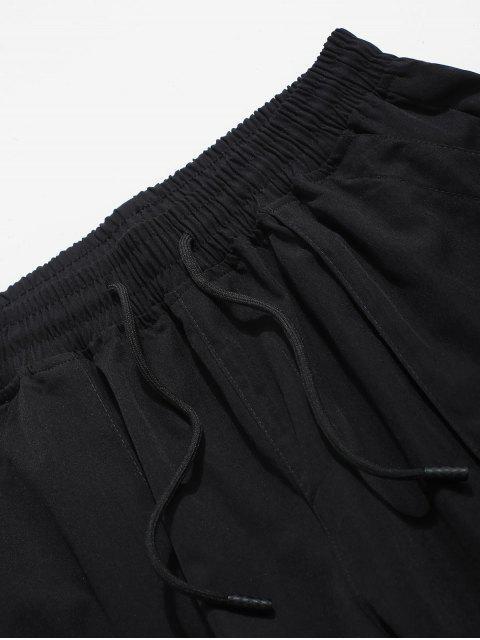 shops Color Spliced Pocket Decorated Shorts - BLACK XS Mobile