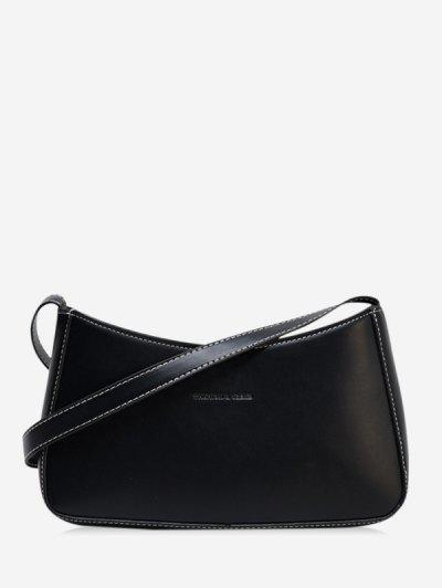 Solid Casual Crossbody Bag - Black