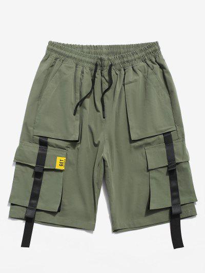 Pantaloncini Con Tasca A Contrasto - Verde Dell'esercito Xl