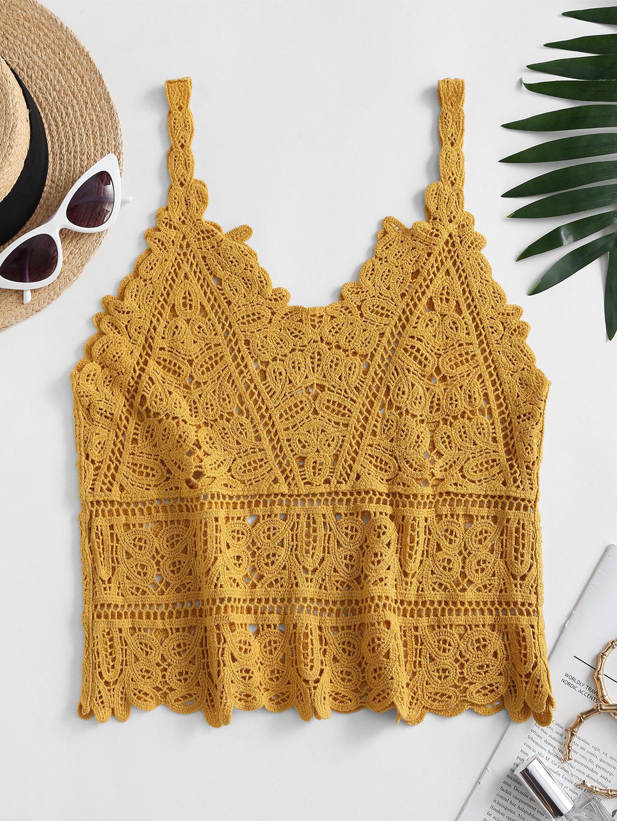 Solid Crochet Beach Top