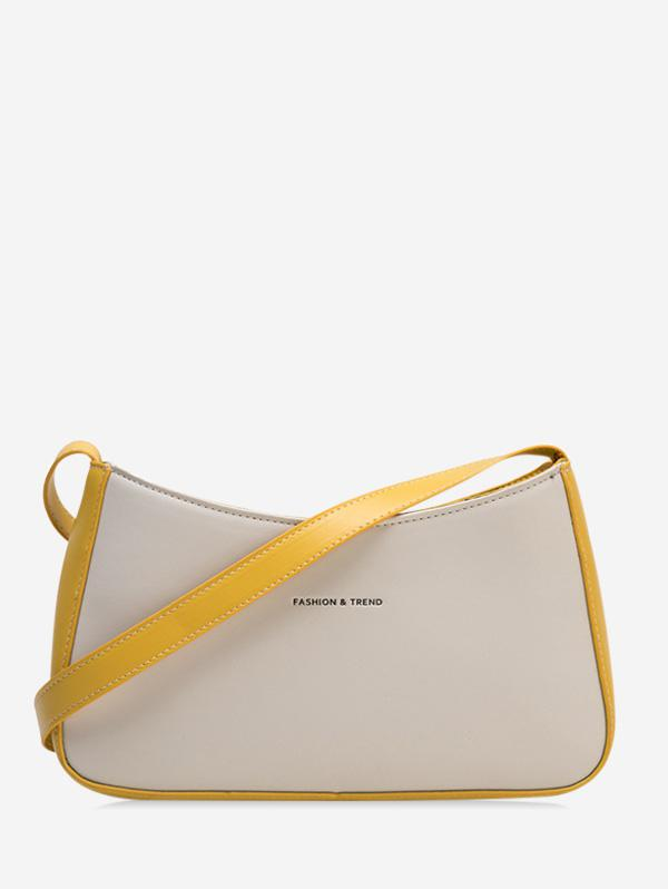 Two Tone Casual Crossbody Bag