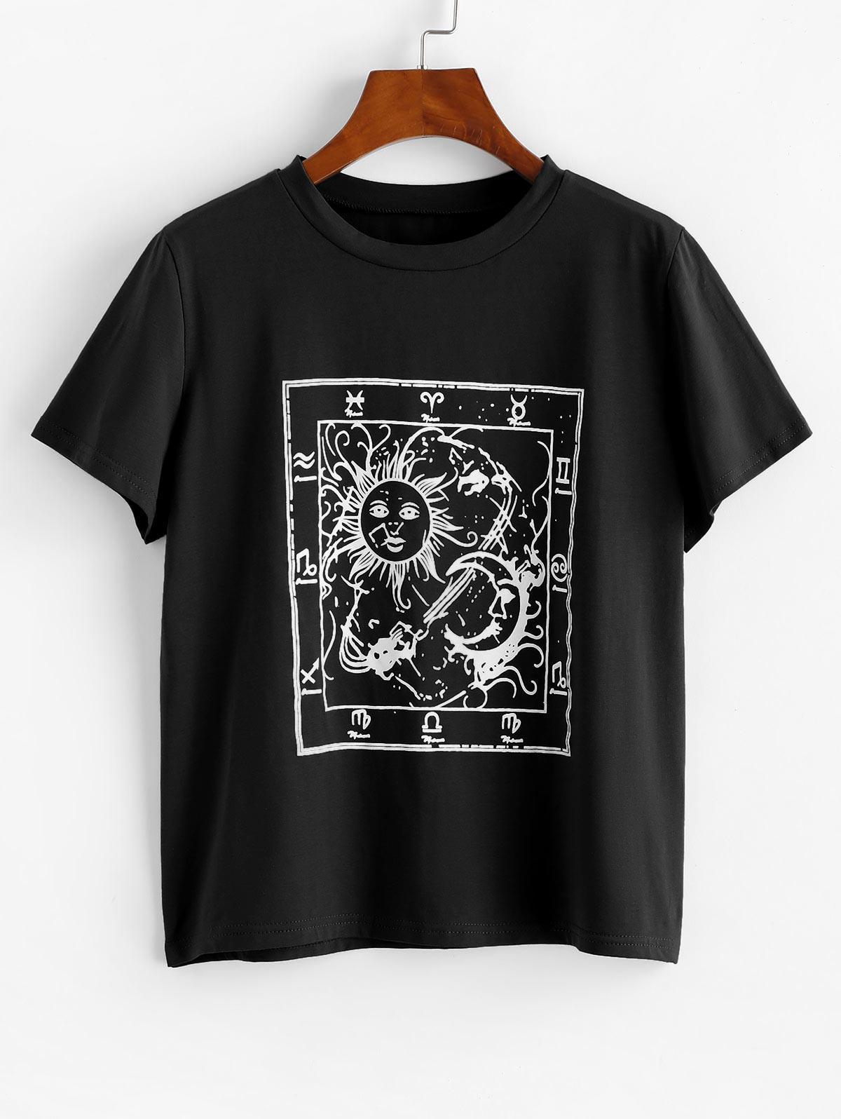 Astrology Sun Moon Graphic Tee
