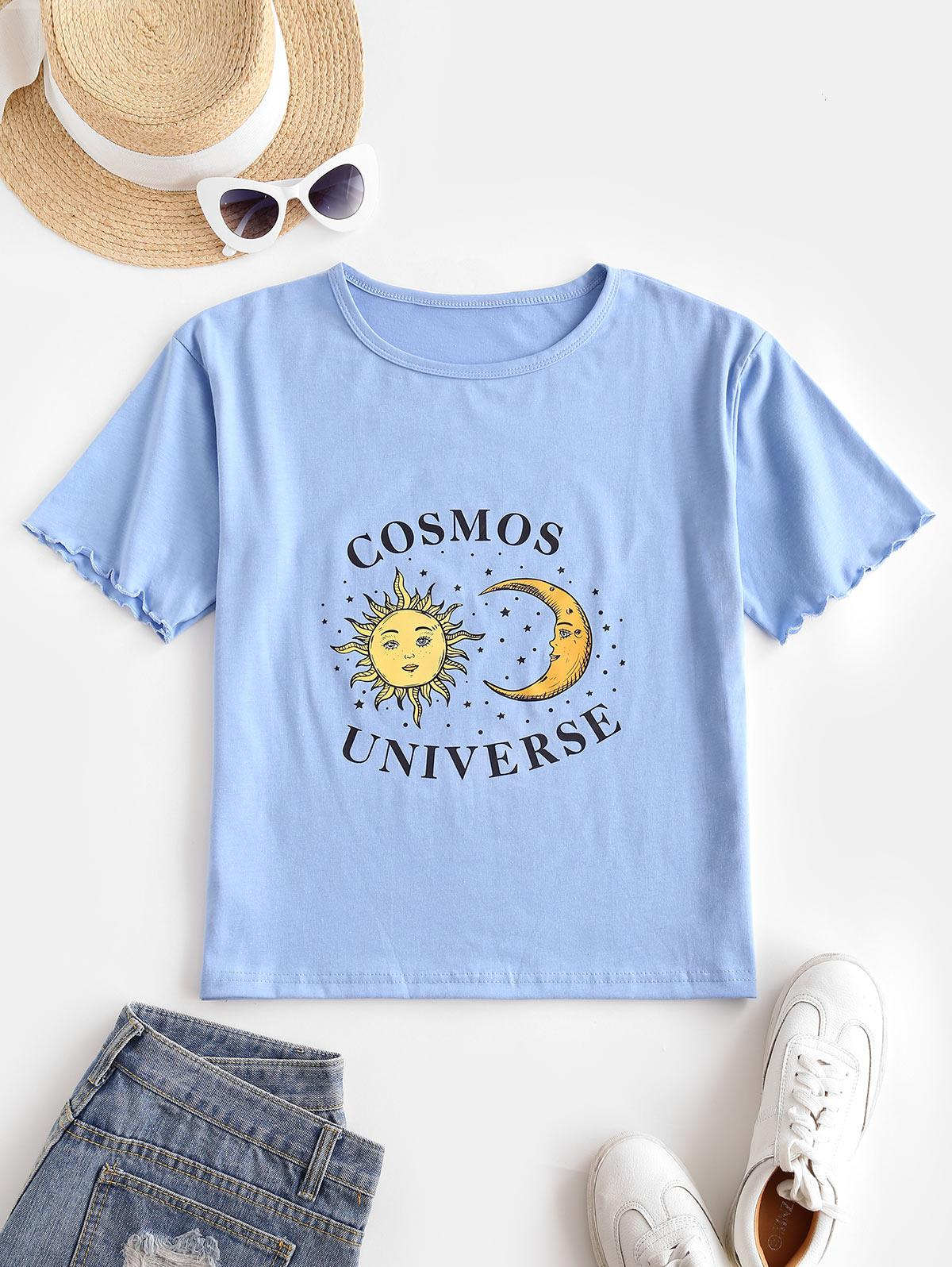 Sun Moon Star Lettuce Cuffs T-shirt