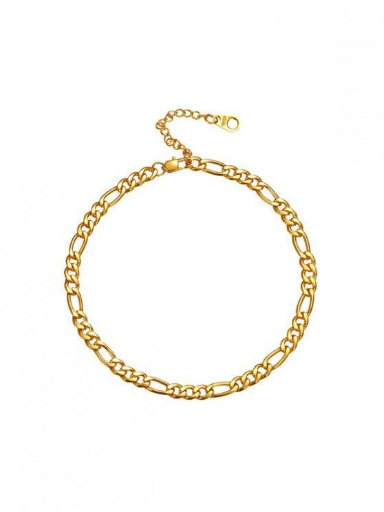 Pure Color Chain Anklets Figaro - De aur