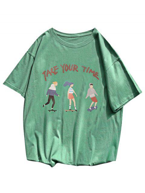 Camiseta Básica furcal longa - Verde profundo L Mobile