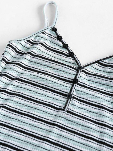 fashion ZAFUL Striped Mini Bodycon Dress - PALE BLUE LILY M Mobile