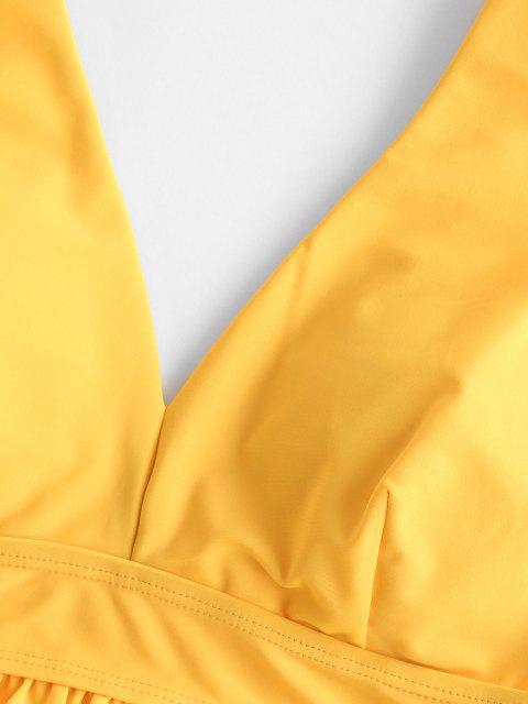 ZAFUL Button Down Hemd mit Geometrischem - Gelb 2XL Mobile