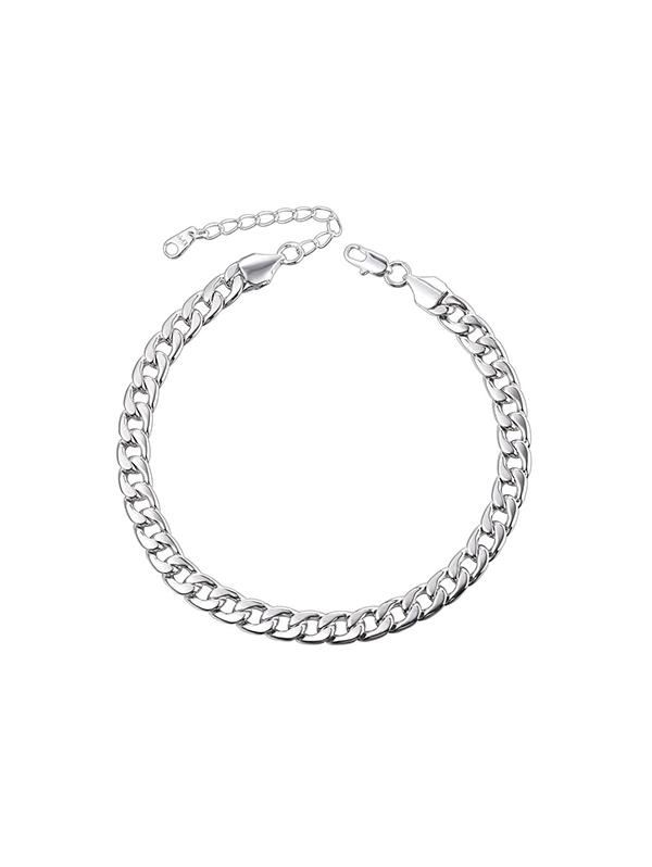 316L Stainless Steel Plated Curb Link Chain Anklet