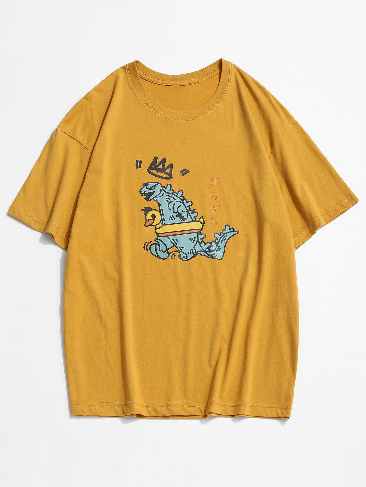 T-shirt MonstreDessin AniméImprimé à Col Rond 3xl - Zaful FR - Modalova