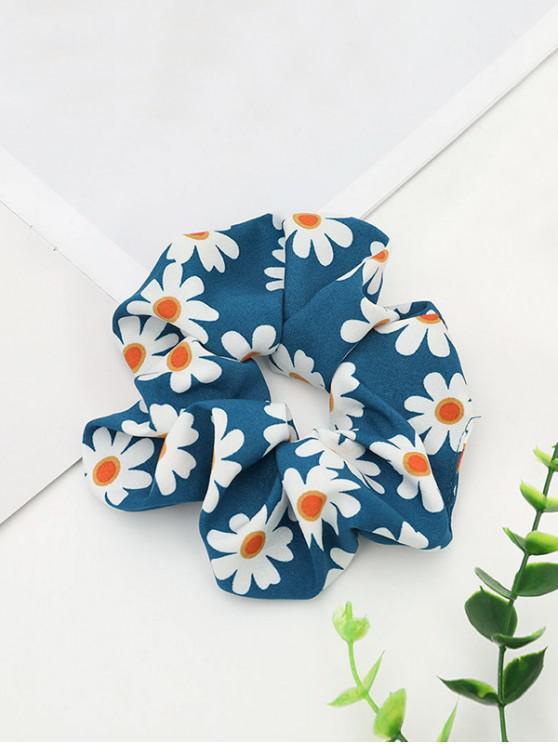 Daisy Tipărit elastice Fabric Scrunchy - Albastru
