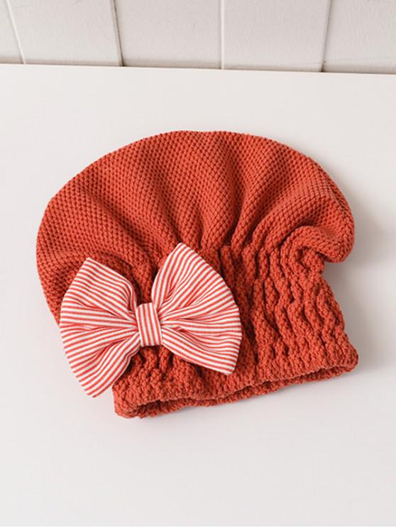 Bowknot Hair Drying Towel Hat - متعددة F