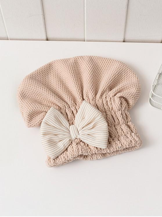 buy Bowknot Hair Drying Towel Hat - MULTI-E