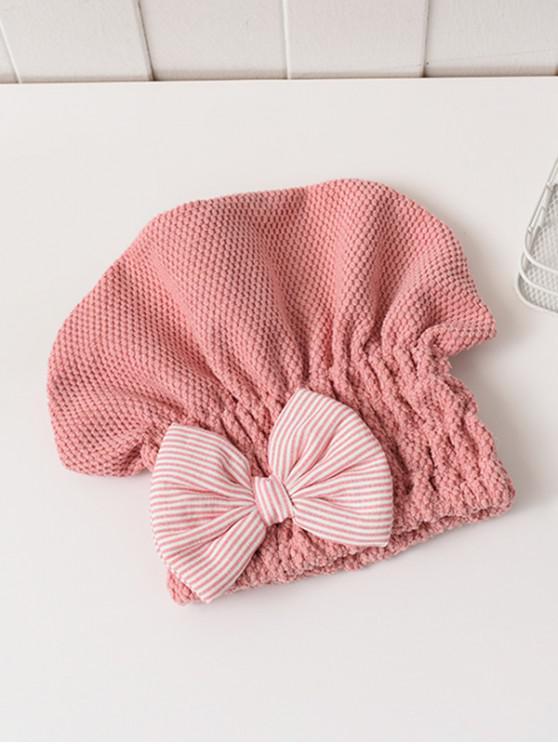 Bowknot Hair Drying Towel Hat - Multi-B