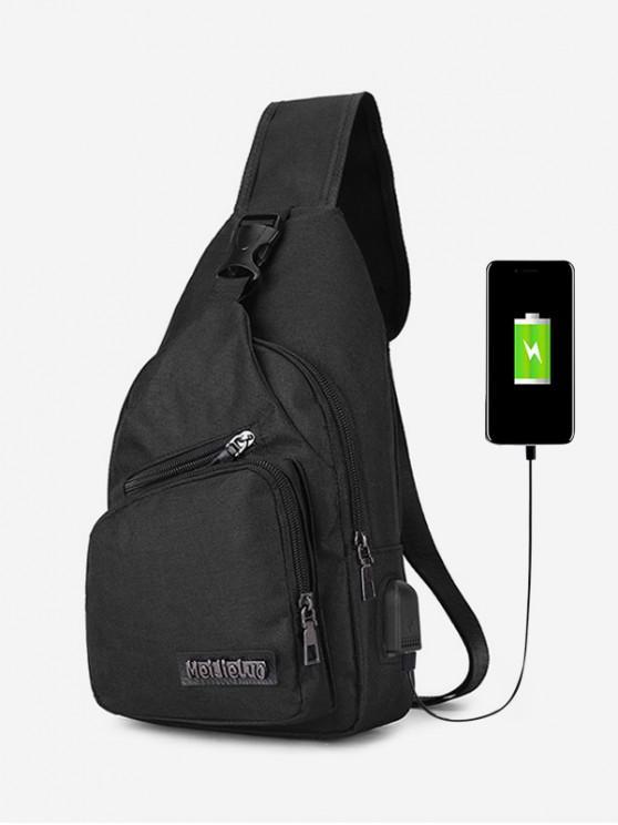shops Outdoor Leisure Crossbody Bag - BLACK