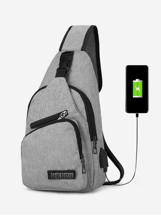 shop Outdoor Leisure Crossbody Bag - GRAY