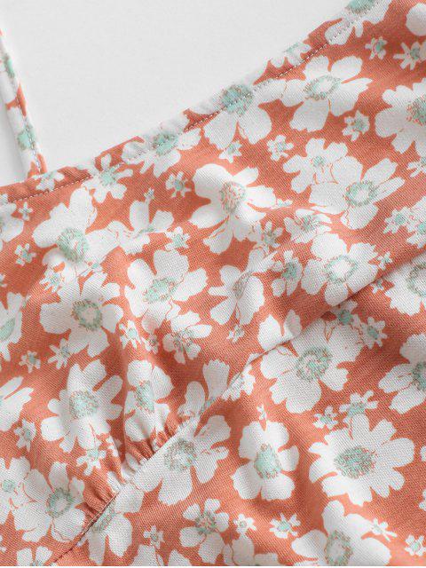shops Tie Floral Two Piece Dress - LIGHT PINK S Mobile