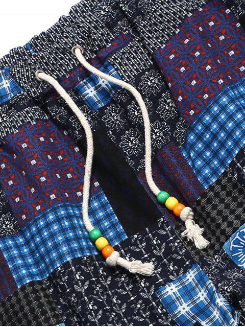 Pantalones Jogger Talla Extra Estampado Tribal - Azul Profundo S Mobile