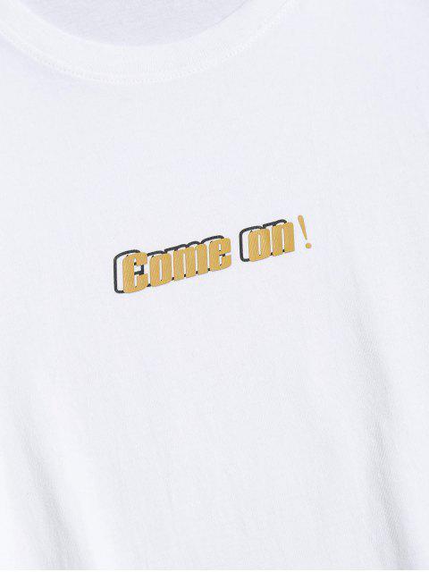 Camisa de Gráfico dos Desenhos Animados de Impressão - Branco 2XL Mobile