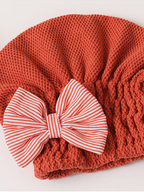 unique Bowknot Hair Drying Towel Hat - MULTI-F  Mobile