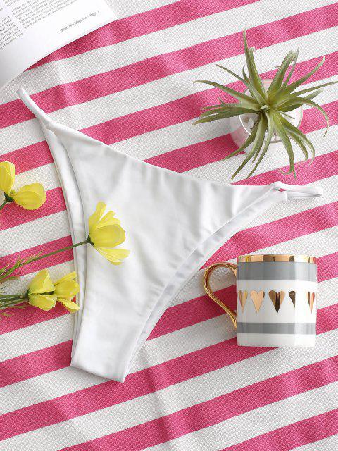 shops ZAFUL Basic Tanga Bikini Bottom - WHITE S Mobile