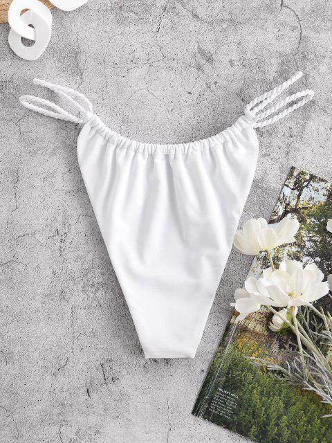 new ZAFUL Plaited Bikini Bottom - WHITE S Mobile