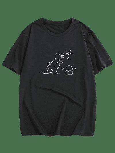 ZAFUL Dinosaur Print Short Sleeves T-shirt