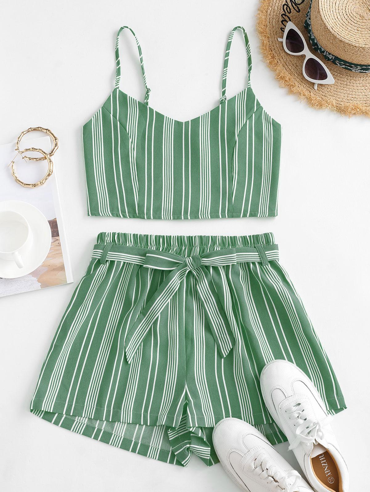 Striped Smocked Co Ord Set