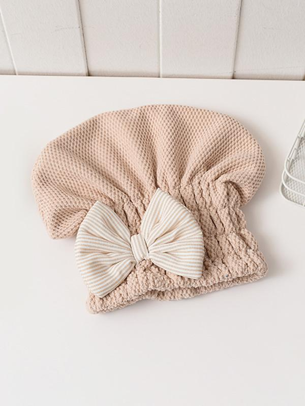Bowknot Hair Drying Towel Hat