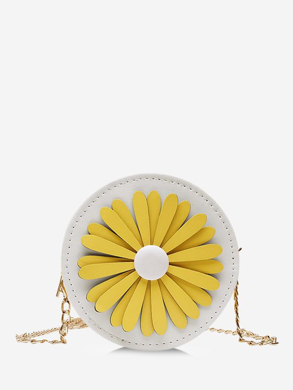 Floral Mini Round Chain Crossbody Bag