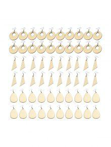 60Pcs DIY Wood Earrings Accessories Set