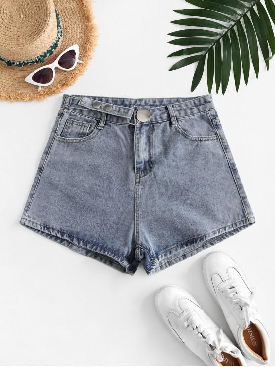 outfits Metal Jean Shorts - LIGHT BLUE M