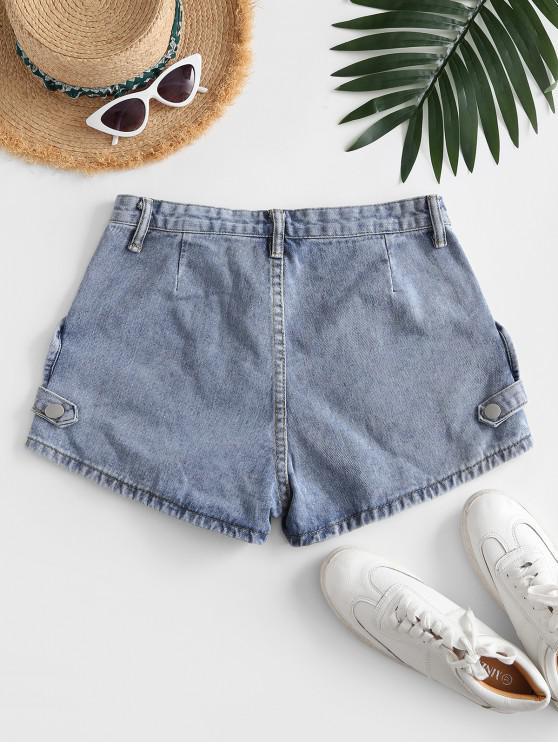 Cotton Jean Shorts - Light Blue M   ZAFUL