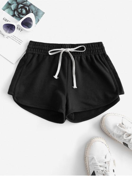 shops Lounge Drawstring Dolphin Sweat Shorts - BLACK 2XL