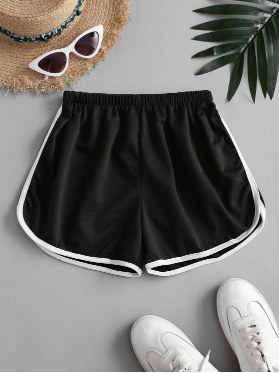 buy Mid Rise Pull-on Dolphin Shorts - BLACK ONE SIZE