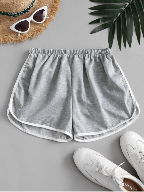 new Mid Rise Pull-on Dolphin Shorts - GRAY ONE SIZE
