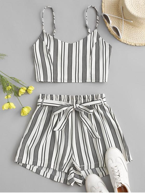 Striped Smocked Co Ord Set - alb XL