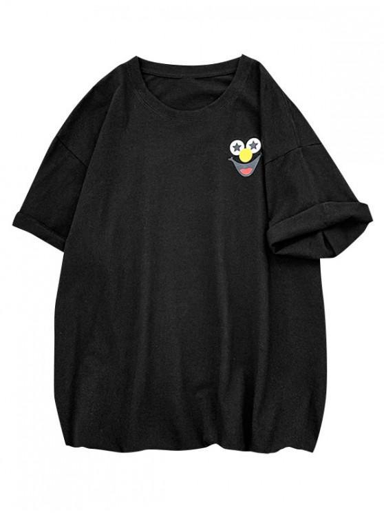 Funny Clown Graphic Print Basic T-shirt - أسود S