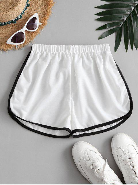 buy Mid Rise Pull-on Dolphin Shorts - WHITE ONE SIZE Mobile