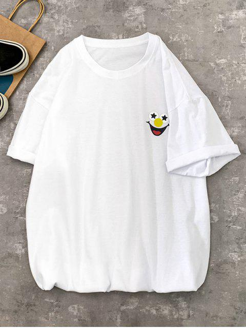 lady Funny Clown Graphic Print Basic T-shirt - WHITE 2XL Mobile