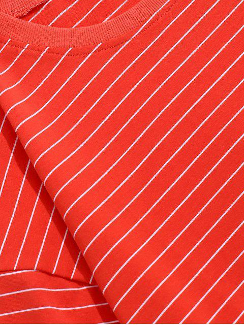 Maglietta di Gessato con Spalle Scivolate - Rosso 3XL Mobile