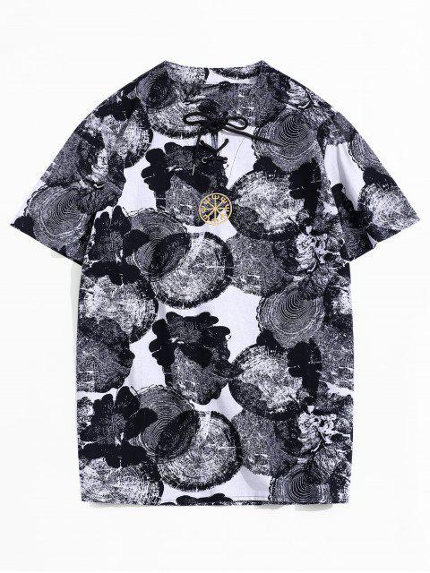 Maglietta con Ricamo Grafico - Bianca 3XL Mobile