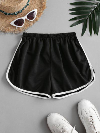 Mid Rise Pull-on Dolphin Shorts - Black