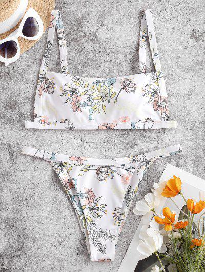 ZAFUL Run Wild Square Bikini Swimwear - Multi-b L