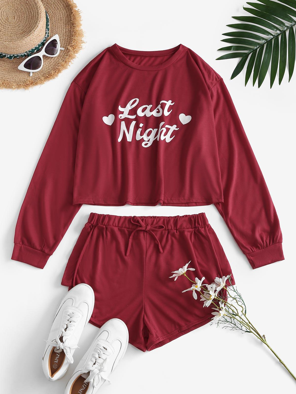 Last Night Graphic Long Sleeve Co Ord Set