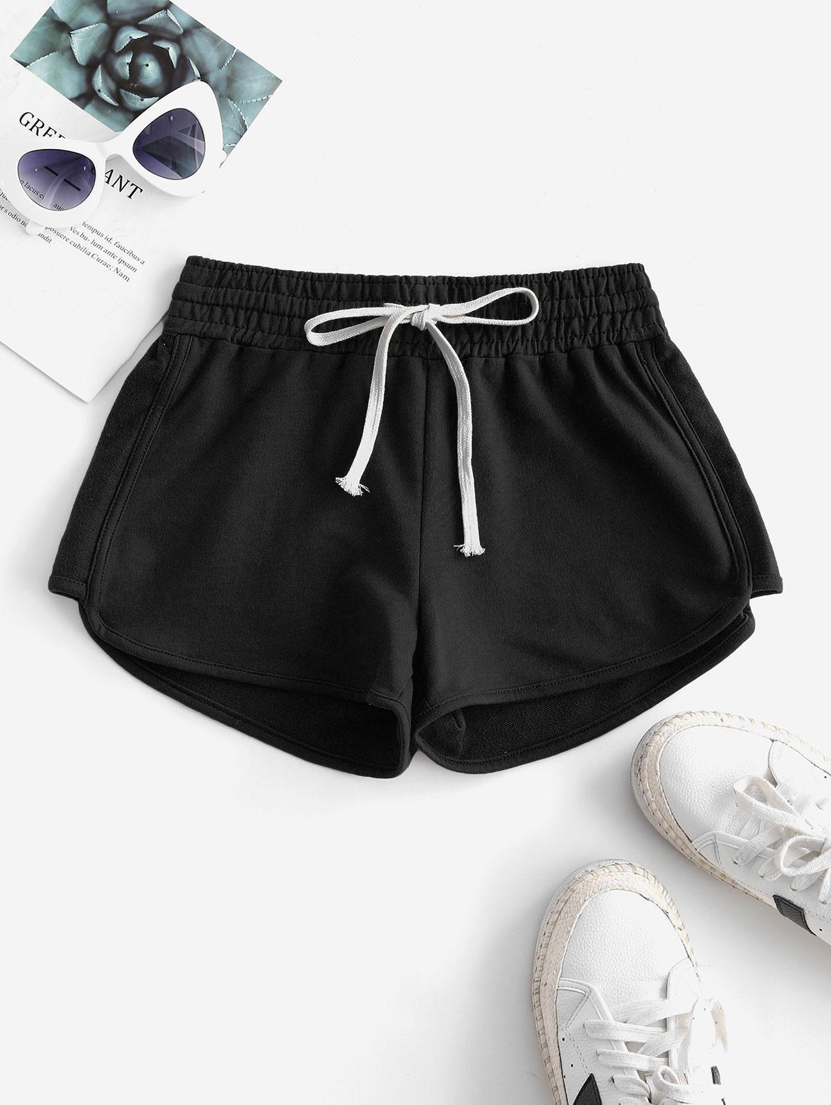 Lounge Drawstring Dolphin Sweat Shorts