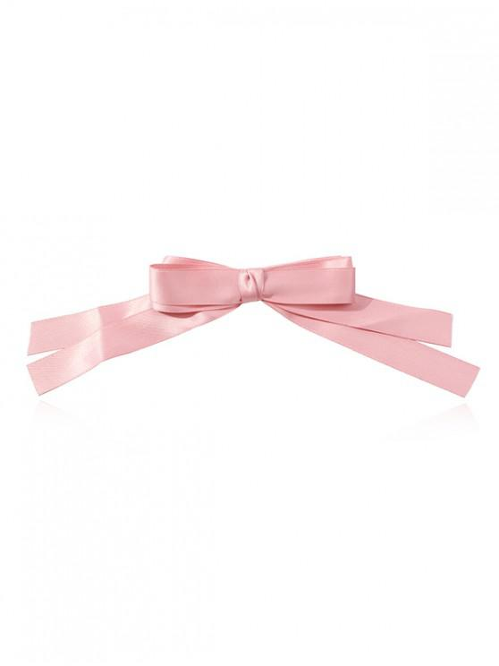 hot Big Bowknot Solid Hairpin - LIGHT PINK