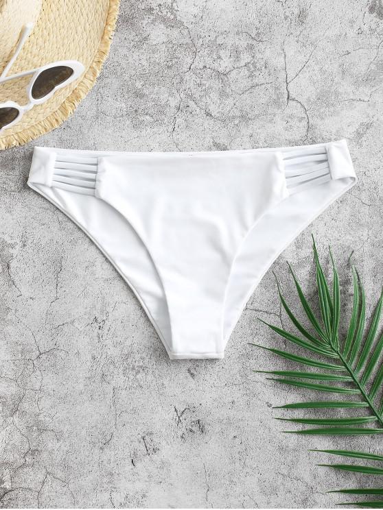 ZAFUL Leiter Hollow Out Bikini Unterteile mit Niedriger Taille - Weiß M