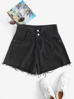 Cuff Off Denim Shorts - Black M