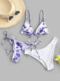 ZAFUL Costume Da Bagno Bikini A Tre Pezzi - Viola M