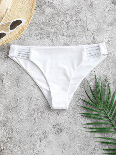 ZAFUL Ladder Hollow Out Low Rise Bikini Bottom - White M